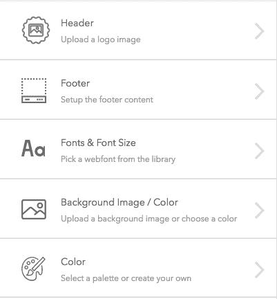 bucket.io customization options