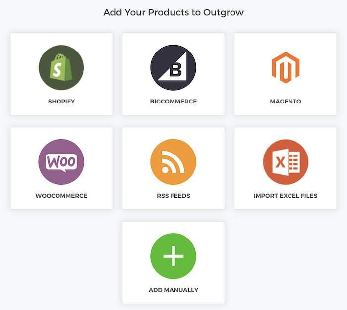 Outgrow e-commerce integrations