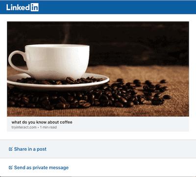 TryInteract quiz maker social sharing