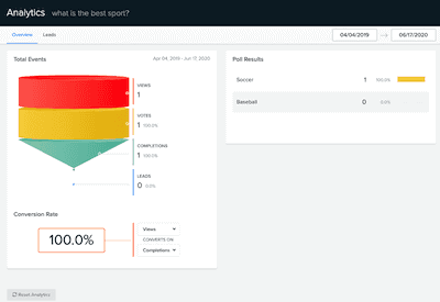 TryInteract quiz make pricing analytics and statistics