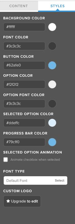 TryInteract quiz maker format options