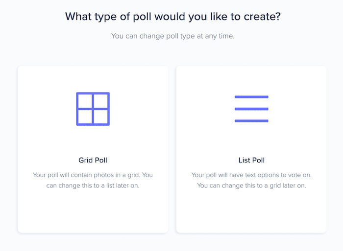 TryInteract poll options