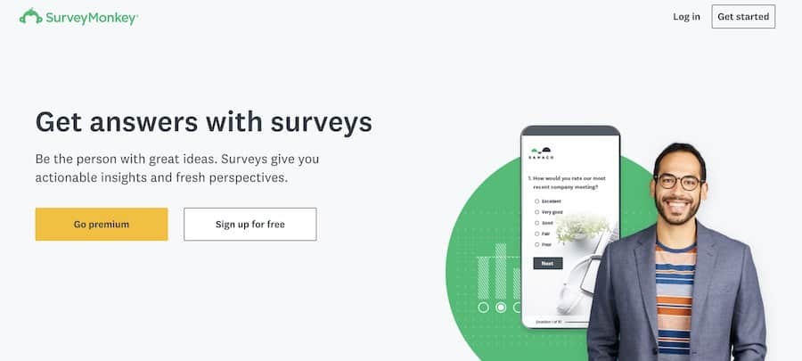 survey monkey home page