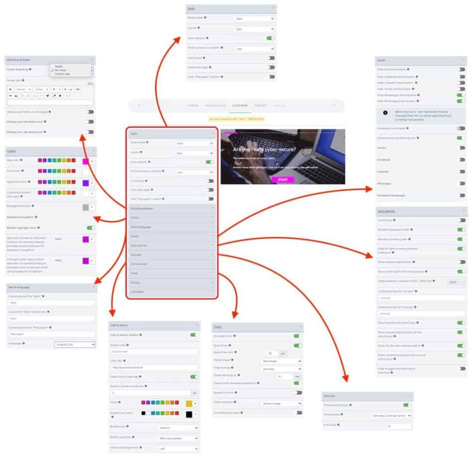 Riddle - quiz customization options