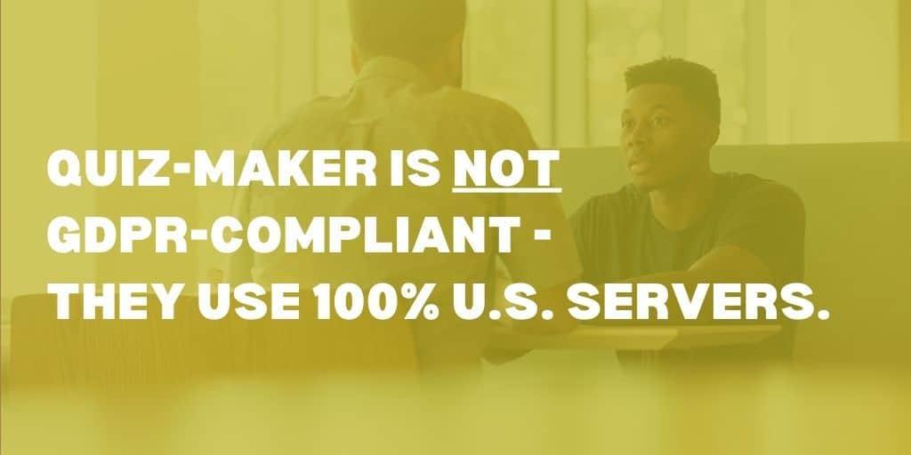 Quiz-Maker not GDPR-compliant