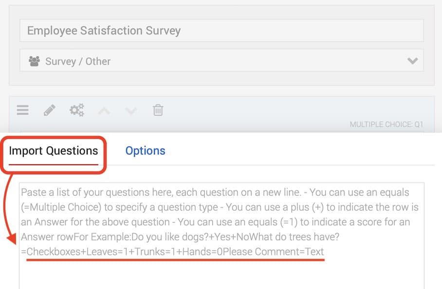 Quiz-Maker import questions