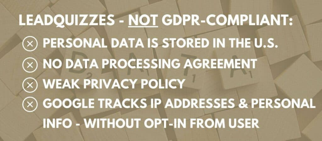 leadquizzes gdpr review and data privacy