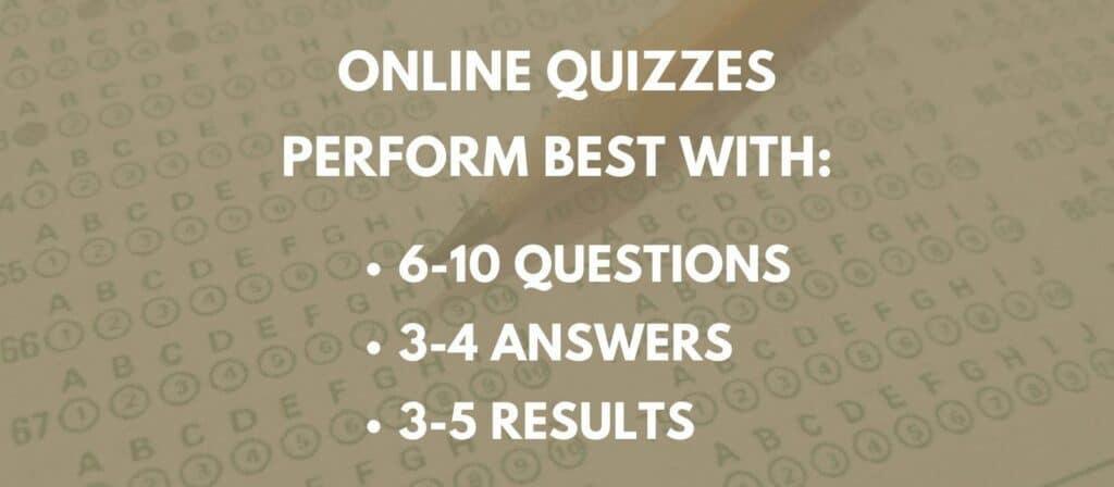 quiz marketing - best practices