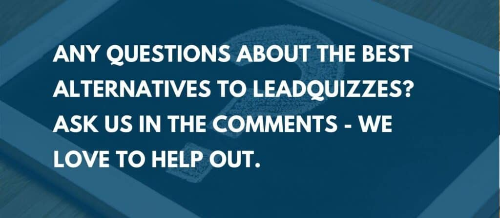 alternatives to leadquizzes - ask us