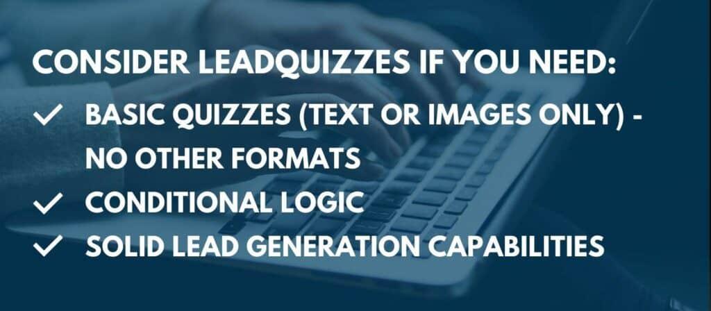 Leadquizzes - summary