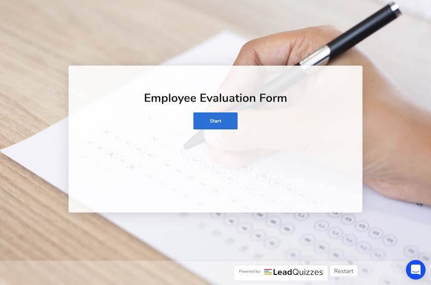 Leadquizzes - example personality test