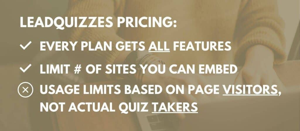 Leadquizzes pricing and limits