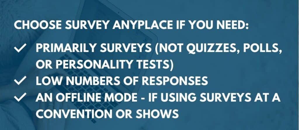 survey anyplace review - our recommendation