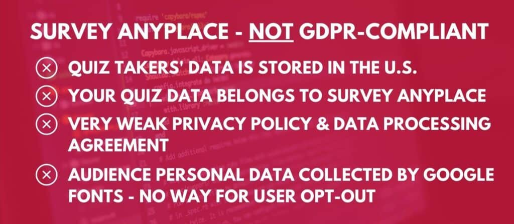 survey anyplace review - gdpr compliance