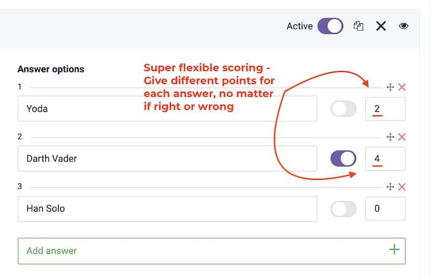 survey anyplace review - flexible scoring